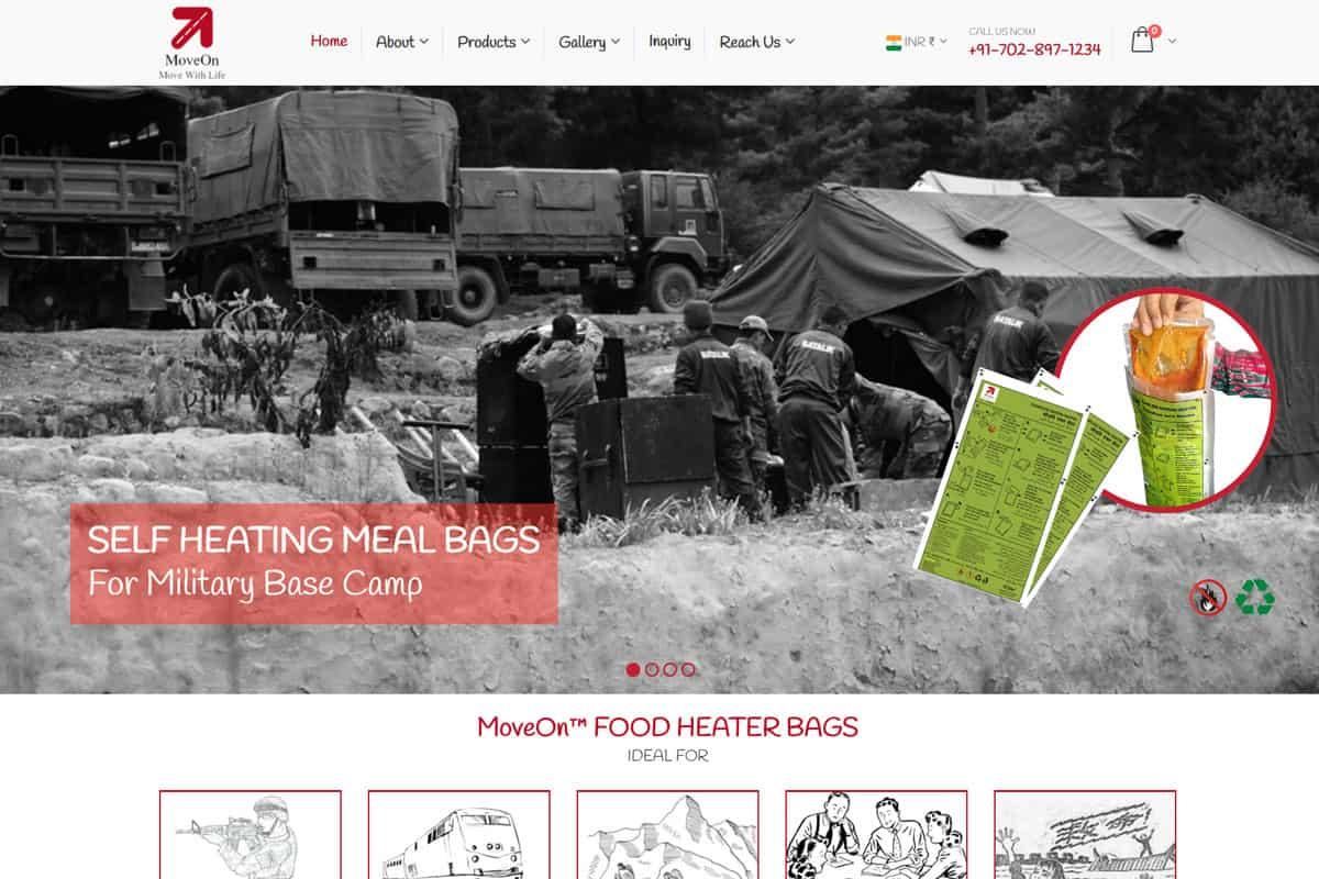 Our Work food ecommerce website development