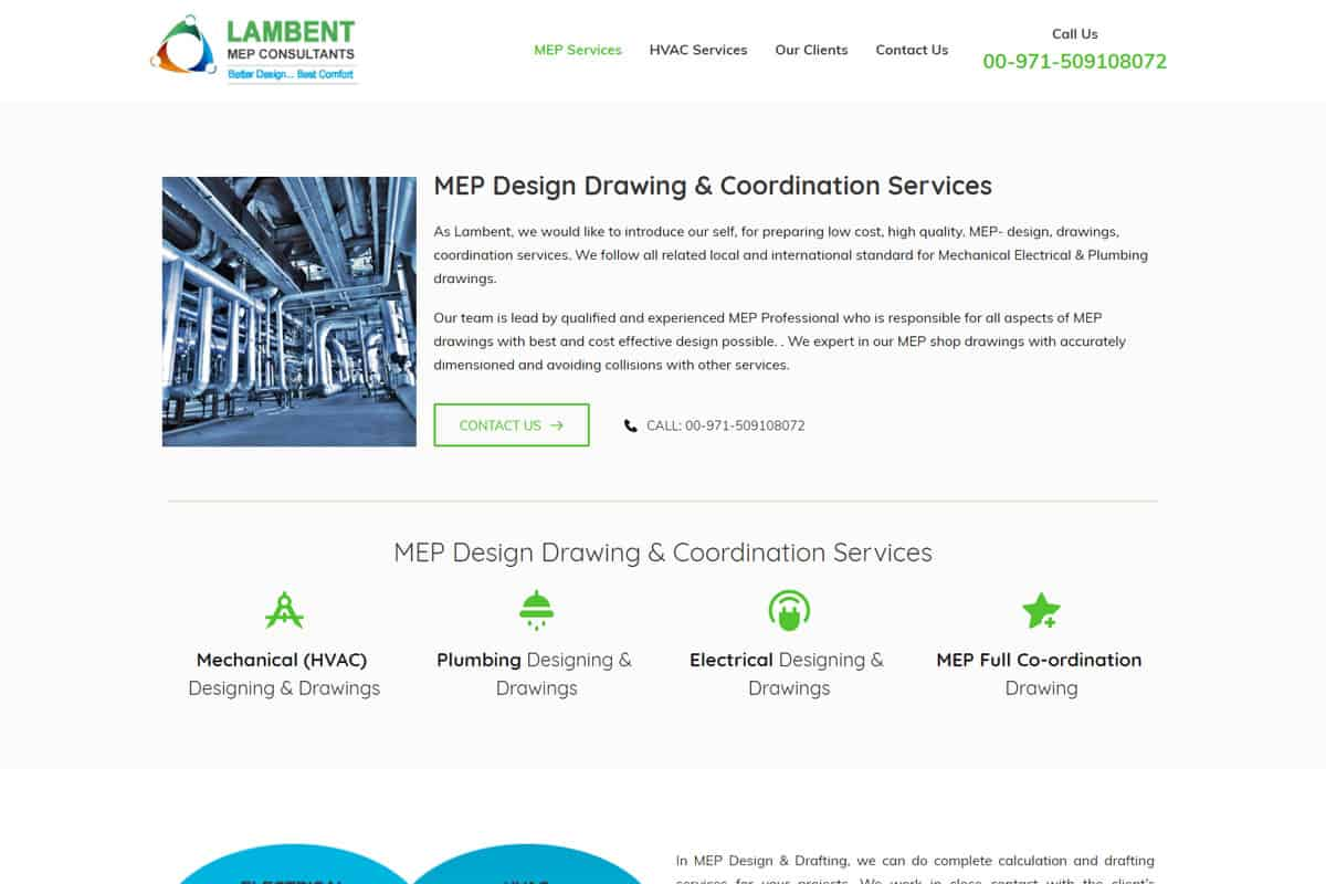 Our Work hvac consultancy website designing