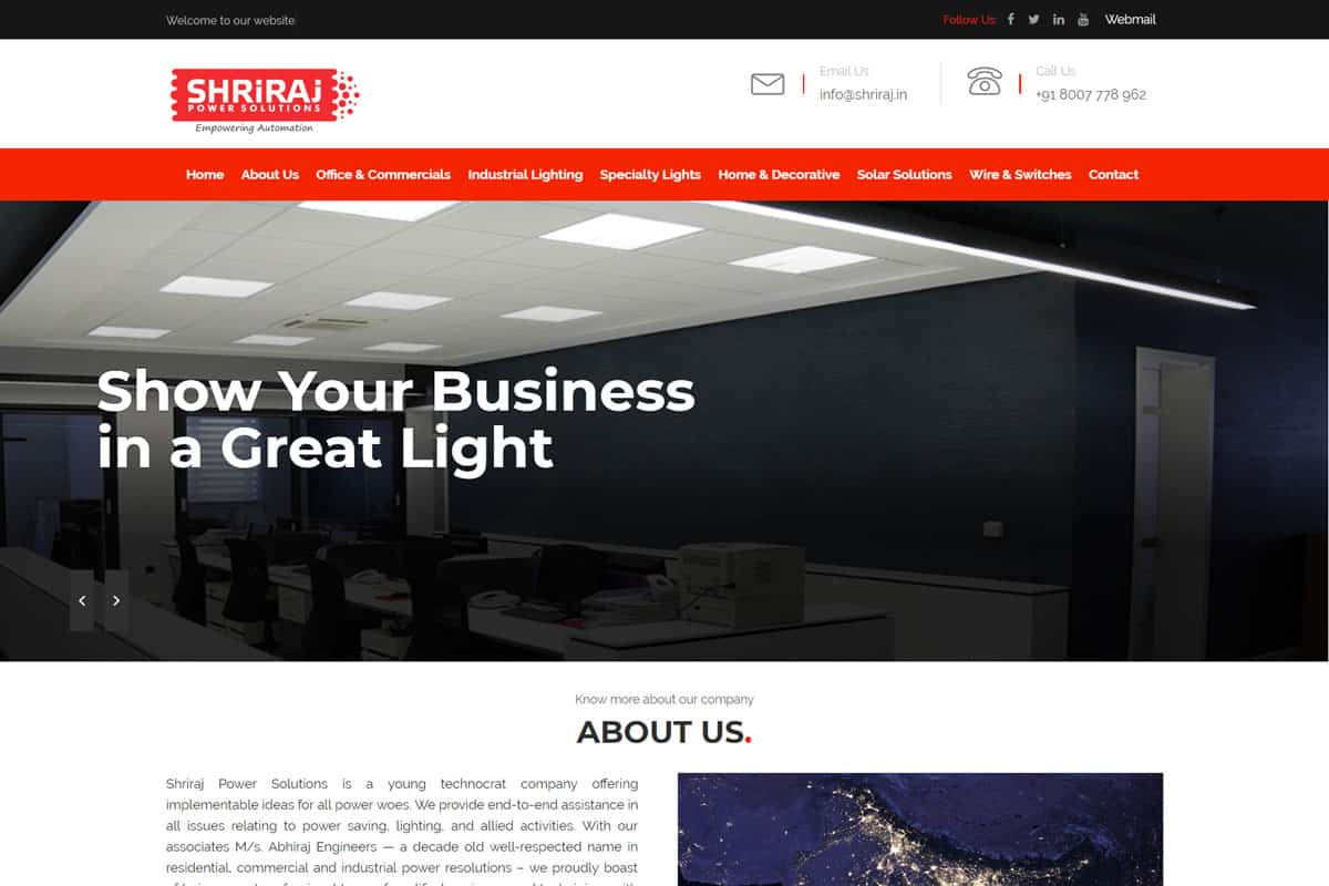 Our Work solar services website desiging